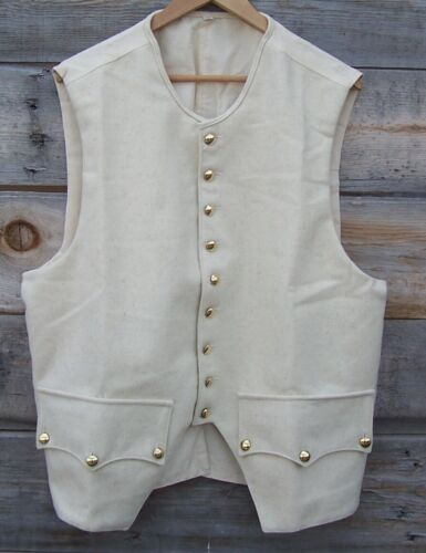 Revolutionary War Off White 100% Wool Vest 50