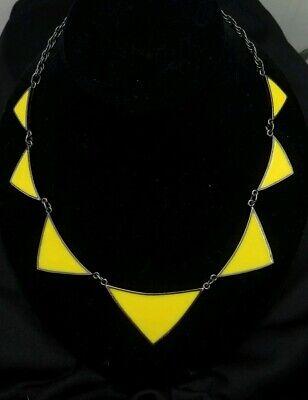 Express Yellow Geometric Collar Fashion Necklace Geometric Yellow Necklace