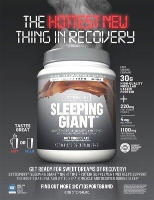 CytoSport SLEEPING GIANT Casein Protein + Sleep Aids 18 Serv