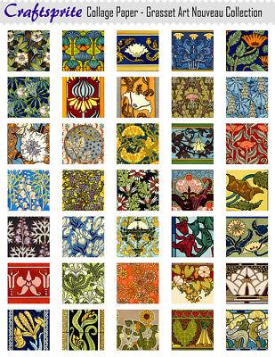 High Quality Printed Collage Sheet - Grasset Art Nouveau - 8.5