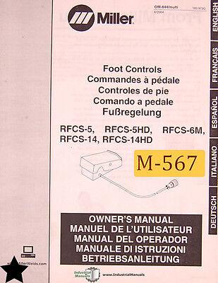 Miller Rfc-5 Rfcs-5hd Rfcs-6m Rfcs-14 Rfcs-14hd Foot Control Ops Wiring Manual