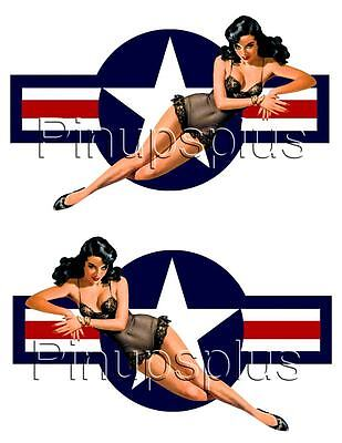 Car Themed Home Decor Pinup Vinyl Decal USAF ROUNDEL Cars Motorcycles #1224 Home Decoration For Living Room