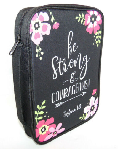 Extra Large Bible Cover BE STRONG Bible Scripture Verse Joshua 1:9, Case Bag