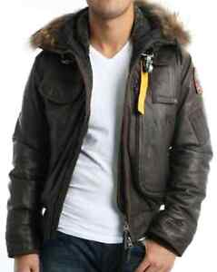 AUTHENTIC RARE MENS PARAJUMPERS LEATHER GOBI BROWN COLORWAY MED