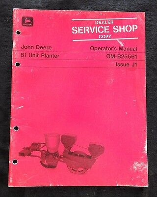 Genuine 1971 John Deere 81 Unit Planter Operators Manual Very Good Shape