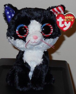 "Ty Beanie Boos - FREEDOM the 6"" Cracker Barrel Exclusive Cat ~ 2018 NEW ~IN HAND"