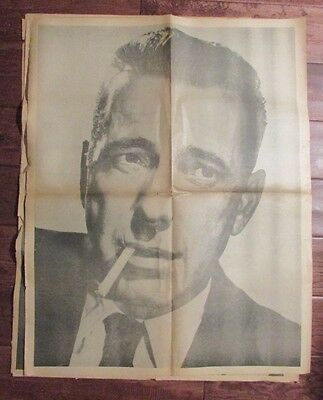 1960's Chicago's American Picture Poster Parade HUMPHREY BOGART VG 24x30
