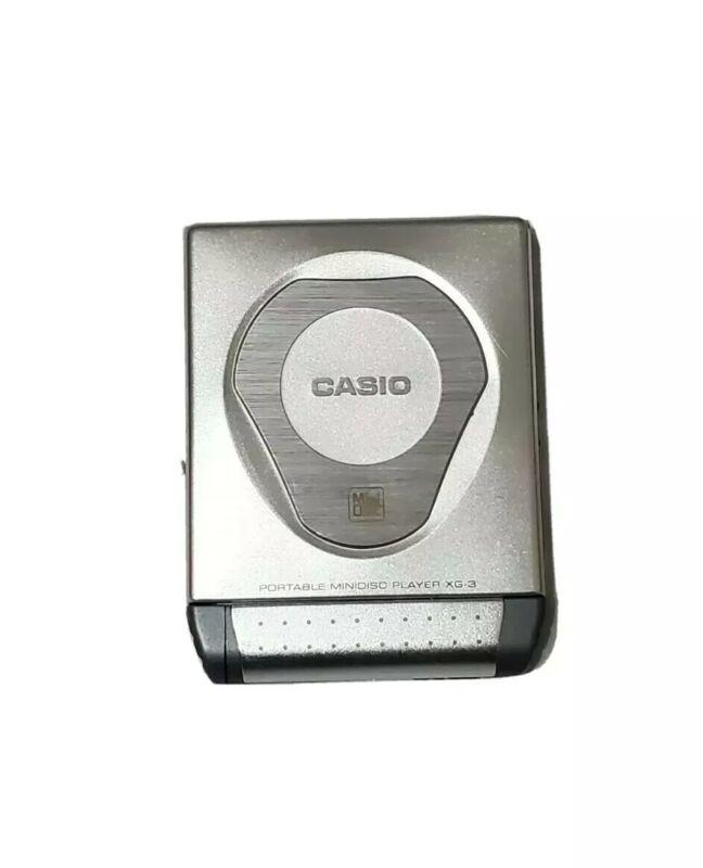 Rare! CASIO XG-3 Portable Mini Disc MD Player October 1999  **READ**
