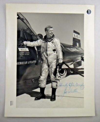 Joe Walker (Deceased 1966) Signed X-15 NASA Pilot Ser Number 8x10 Photo JSA LOA