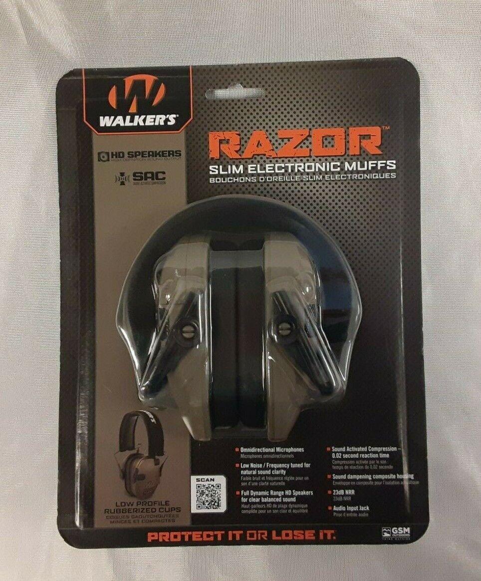 New Walkers Game Ear GWP-RSEM-FDE Razor Slim Electronic Muff