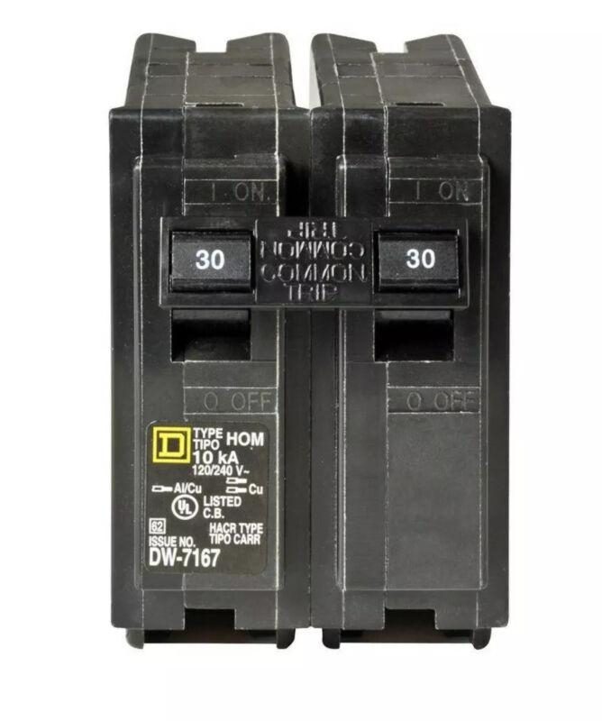 New Square D Hom230 Homeline 2 Doble Pole 30 Amp 120/240 Volts Circuit Breaker
