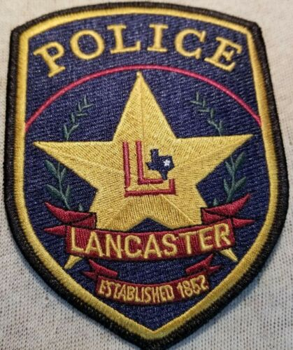 TX Lancaster Texas Police Patch