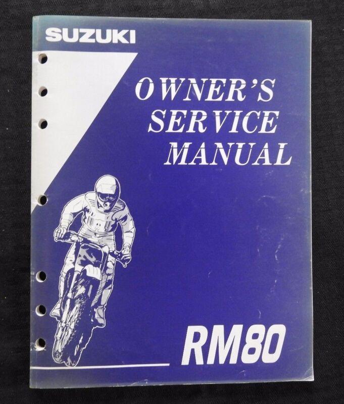 GENUINE 1994 1995 SUZUKI 80 RM80 MOTORCYCLE OWNER