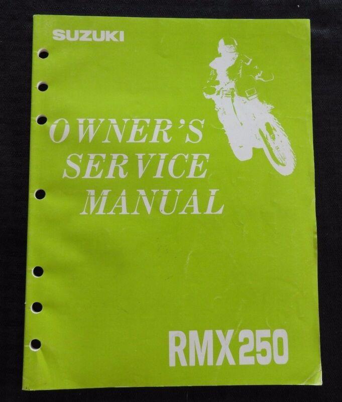 GENUINE 1992 1993 SUZUKI 250 RMX250 MOTORCYCLE OWNER