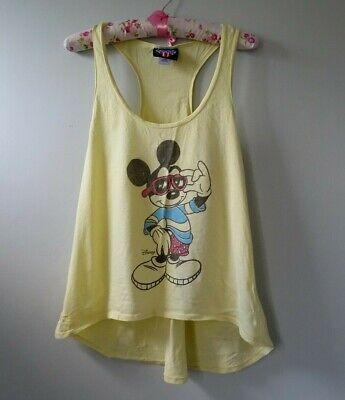 Ladies yellow Junk Food racer back Tee Shirt size L