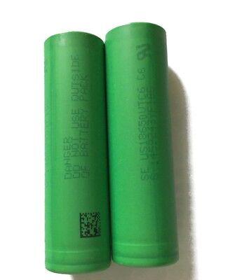 2 x Sony Li-Ionen Akku | US 18650 VTC6 | 3,7V 3100mAh 30A | e-Zigaretten 3.7