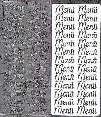 Zier-Sticker-Bogen -Menü-antik-silber-M 3723s