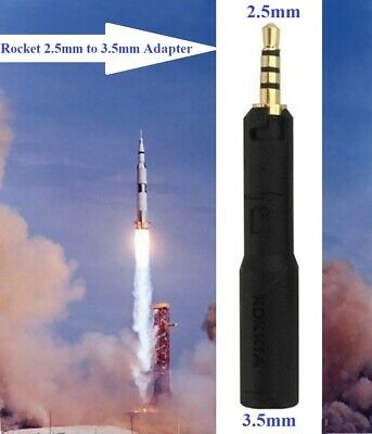 KOKKIA Rocket 2.5mm Male to 3.5mm Female Adapter : For 2.5mm headsets/devices.