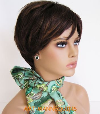 Bust female mannequin head for displaying wigs hats scarves jewelry, head-FOO