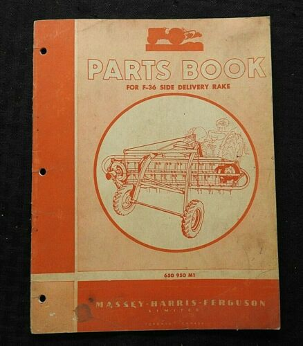 1957 MASSEY HARRIS FERGUSON F-36 SIDE DELIVERY RAKE PARTS CATALOG MANUAL