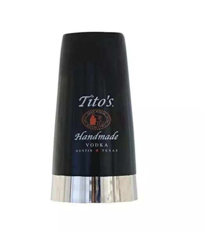 TITIO'S Handmade Vodka RUBBER INSULATED  Commercial Quality Stainless  Mixer Cup