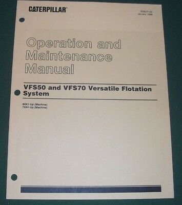 Cat Caterpillar Vfs50 Vfs70 Floataion System Operation Maintenance Manual