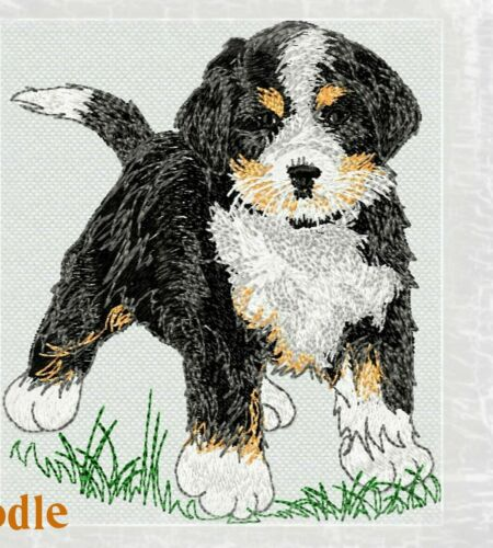 Bernedoodle Dog BATHROOM SET HAND TOWELS EMBROIDERED ADORABLE