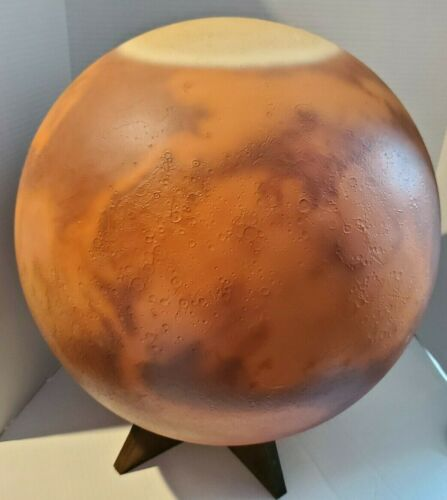 "1978  20"" Mars Globe by Raco Astrofilms - Roger A. Civic - Spectacular Color"