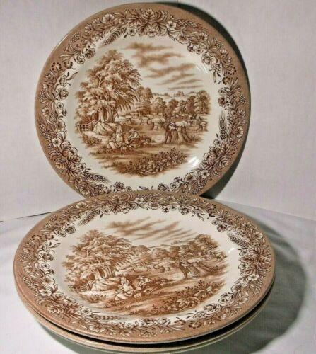 """Set of 4 Churchill Currier & Ives """"Harvest"""" Dinner Plate 10"""" - Heritage Mint LTD"""