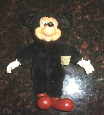 """Rare Old Vintage Original Applause Mickey Mouse Plush Doll 9 3/4"""" Tall 1987"""