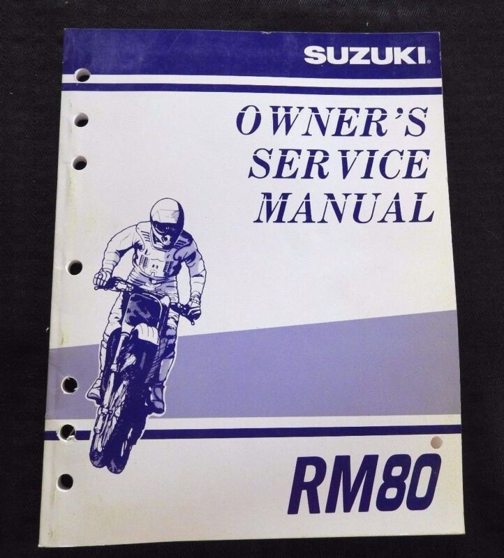 GENUINE 2000 2001 SUZUKI 80 RM80 MOTORCYCLE OWNER