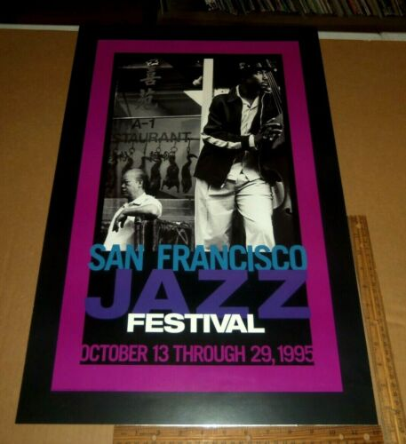 1995 San Francisco Jazz festival poster 16x26