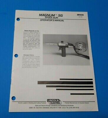 Lincoln Magnum Sg Mig Welding Spool Gun Operator Manual Im408 F
