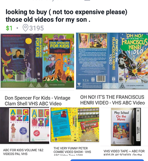 Wanted: looking for old kids videos VHS
