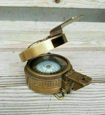 Solid Brass Nautical British Military WW2 Mark III Prismatic Pocket Compass