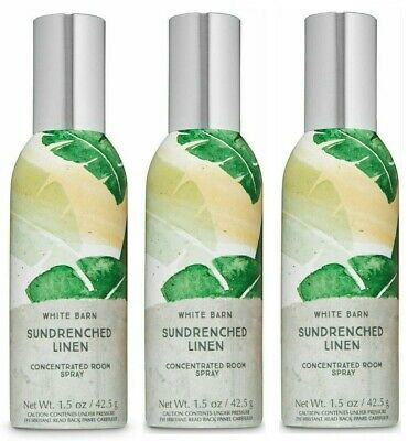 BATH AND BODY WORKS SUNDRENCHED LINEN CONCENTRATED ROOM SPRAY(SET OF 3)