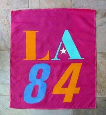 "Rare Mint Vintage 1984 Los Angeles Olympics Banner, 36"" x 30 1/4"""
