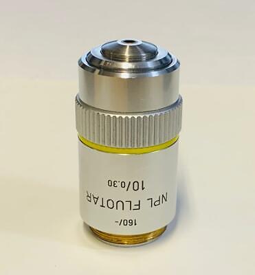 Leitz Npl Fluotar 10x0.30 Microscope Objective 160mm