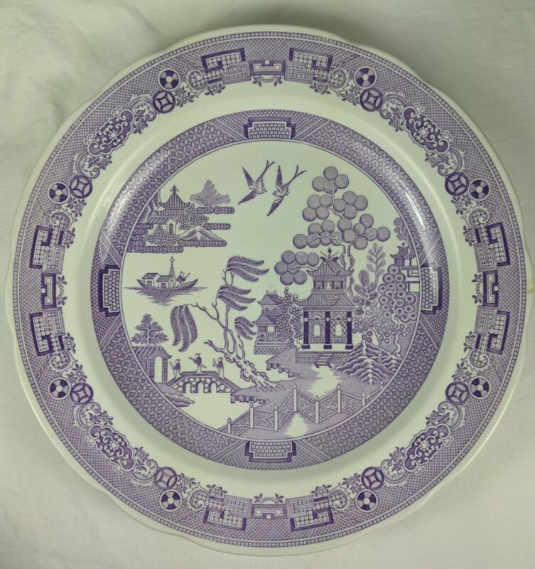 Spode Archive Collection Georgian Series Willow Plate England Purple 53479-V