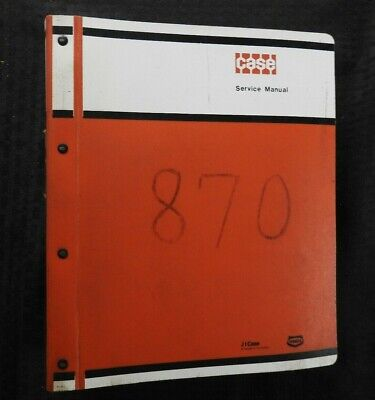 Genuine Case 870 Agri-king Tractor Parts Manual Catalog In Binder Nice Shape