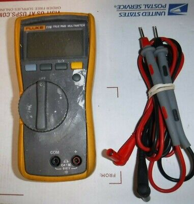 Fluke 116 True-rms Hvac Digital Multimeter Temperature Tool With Leads Read