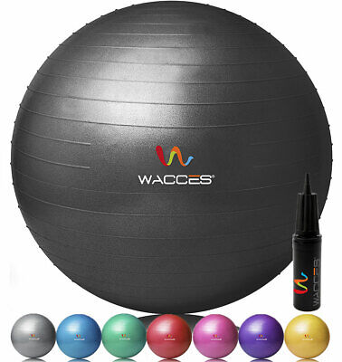 Wacces Exercise Workout Yoga Ball for Yoga Fitness Pilates S