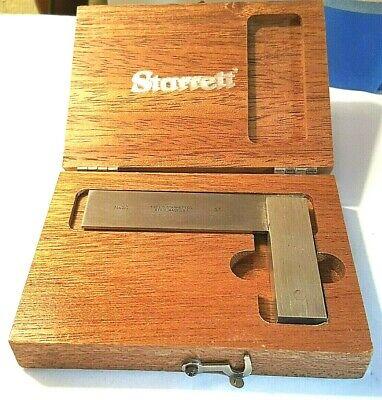 Vintage Starrett No. 20 3 Master Precision Fixed Square Wooden Box Mint