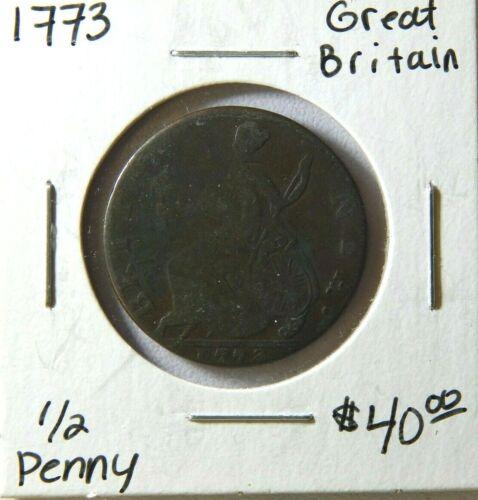 1773 Great Britain Half Penny George II