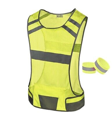 247 Viz Reflective Running Vest Gear Stay Visible & Safe Ultra Light & Comfort