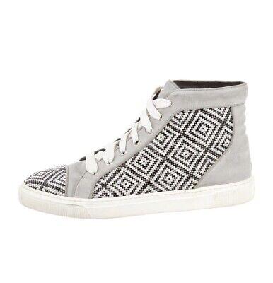 Louis Leeman Crystal Embellished Leather Sneakers -size 10 mens