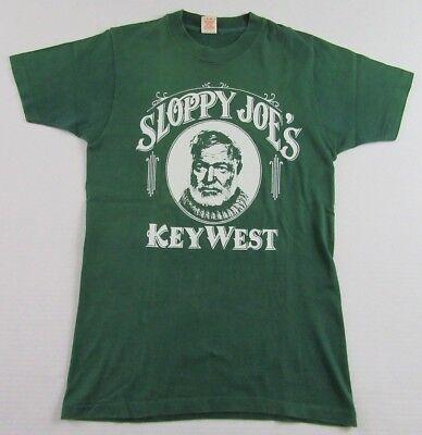 Vintage '80's SLOPPY JOES BAR Key West Florida Vacation Souvenir T Shirt Size S ()