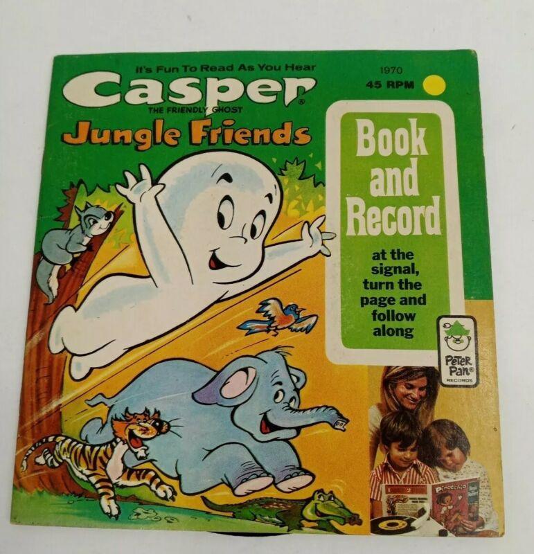 1973 Casper The Friendly Ghost Jungle Friends Book And Record