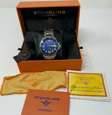 Stuhrling Original Mens Analog Dive Watch - Water Resistant 100 Meters