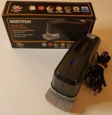 New Bostitch Impulse 30 Sheet Electric Stapler Black 02210
